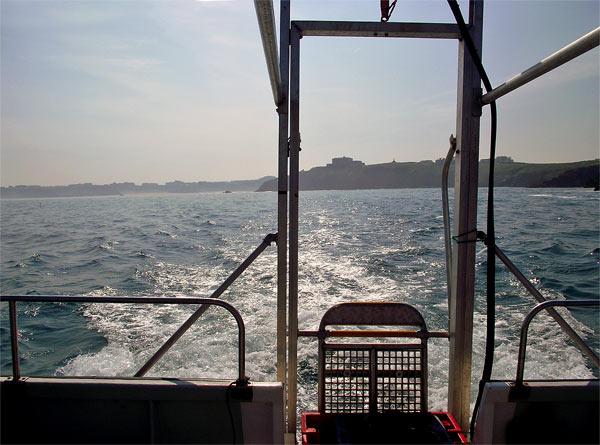Atlantic Diver leaving Newquay