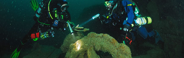 Explore wrecks off the Newquay coast.