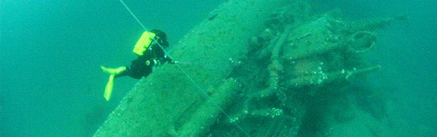 Submarine wreck off the Newquay coast